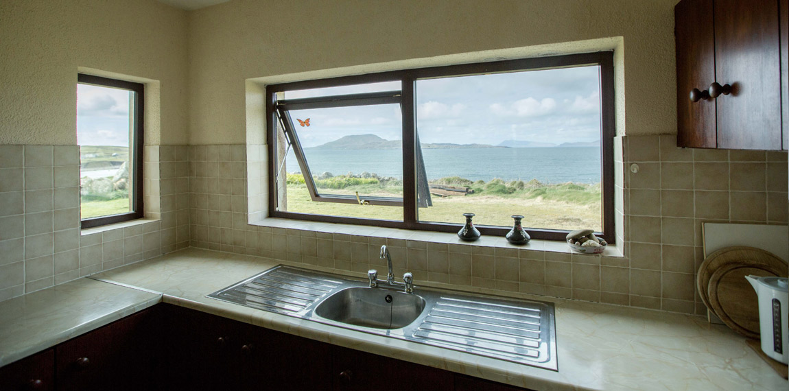 Kitchen with a fantastic view